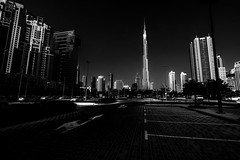 The biggest ! (tomabenz) Tags: black white blackandwhite urban dubai burjkhalifa streetphotography architecture emirates contrast sonya7rm2 a7rm2 cityscape street streetview streetshot