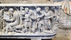Good Shepherd and Baptism, Santa Maria Antiqua Sarcophgus
