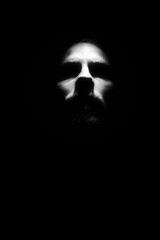 Eleven (jonasbg) Tags: highkey man contrast silhouette face skull flash abstract highcontrast minimal monochrome black white