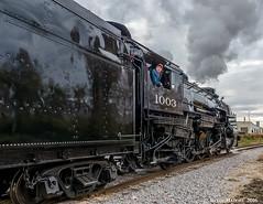 Waiting on the brake test (kdmadore) Tags: steamlocomotive steam soo1003 soo train railroad wisconsinsouthern wsor mikado sooline steamengine