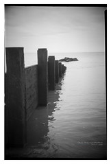 cleveleys_beach_conway_03 (D_M_J) Tags: cleveleys beach lancashire fylde coast north west uk england landscape seascape film camera medium format 120 roll 6x9 conway box ilford delta 100 pro rodinal r09 epson v850 black white bw blackandwhite mono monochrome