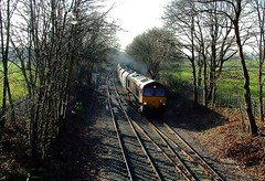 Hoping For A 59 But Got A Shed - 66164 - 6M20 - Dudding Hill Junction - 24-01-17 (techno-phobe) Tags: class66 shed duddinghilljunction dbs dbschenker dbcargo 66164 dollishill freighttrain 6m20