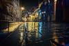 Bundled up (Melissa Maples) Tags: antalya turkey türkiye asia 土耳其 apple iphone iphone6 cameraphone kaleiçi rain water wet winter night reflection lights woman man couple