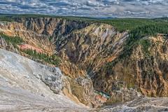 Chasm Enthusiasm (Philip Kuntz) Tags: canyon gorge chasm grandcanyonoftheyellowstone yellowstonerivercanyon yellowstoneriver inspirationpoint yellowstonenationalpark yellowstone wyoming
