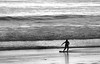 Kim Snyder Black and White Beach Skimboarder (kimsnyderstudio) Tags: dogwood2017 dogwoodweek1 dogwood2017week1 beach skimboard dogwood52week1 kim snyder kimsnyder