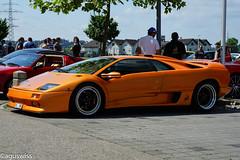Lamborghini Diabolo SV - Super Veloce (aguswiss1) Tags: lamborghinidiabololambo lamborghini diabolo diabolosv superveloce sportscar supercar hypercar fastcar orangecar switzerland carshow carevent racer cruiser carsandcoffee