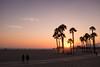 Santa Monica sunset (BrianEden) Tags: x100s beach palmtrees sunset pier couple losangeles sky walking fuji santamonica fujifilm la california unitedstates us