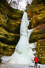 Wiildcat Waterfall in Winter (Jae at Wits End) Tags: stone rock color winter season nature water frost icy weather red waterfall chill cool freeze frozen geological cold people cliff ice