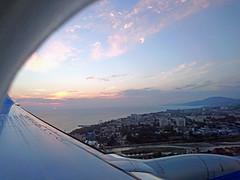 flying over SOCHI (Oleg Sizikov) Tags: черное море вид из самолета закат