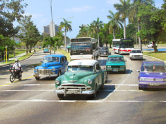 Classic Cars on the Road in Havana Cuba (shaire productions) Tags: car vehicle image classic vintage retro classiccar picture imagery automotive automobile street urban road driving drive cuba cuban travel photo photograph photography