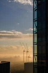 To the South (Sally Dunford) Tags: sallydecember2016 tatemodern londoncranes switchhouseviewingplatform foggylondon canon7d canon1755mm