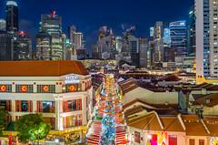 Chinatown Singapore (BP Chua) Tags: chinatown singapore street city cityscape landscape luckychinatown decoration buildings urban stall asia bluehour leica leicax