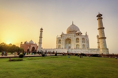 So There's This Mausoleum in India... (Greg - AdventuresofaGoodMan.com) Tags: asia india tajmahal tajmajal taj mahal mausoleum masoleum maouseleum building landmark icon unesco agra marble sunset goldenhour tourists tourism famous manmade religion love tomb