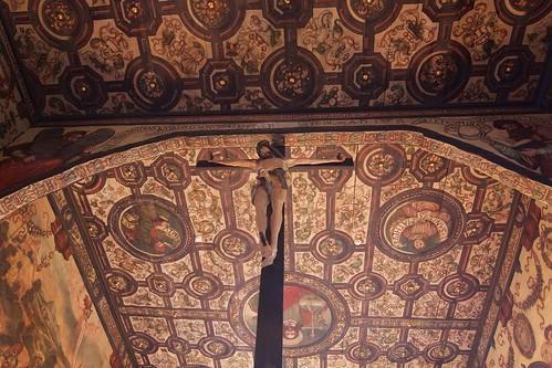 Krucyfiks (1558, J.Jantas) w łuku tęczowym w kościele w Boguszycach