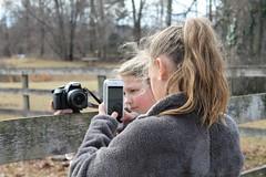 Photo Class team work (karma (Karen)) Tags: garrisonforest owingsmills maryland photoclass students cameras phones fences hff