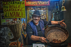 Carmine, the chestnut wizard of Naples (Sergio_MI) Tags: chestnuts naples italy portrait street italian italians
