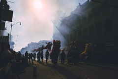 (Alek S.) Tags: street urban city chicago chinatown chinesenewyear chinese newyears candid illinois 2017 outside outdoors streetphotography fireworks explosion smoke dragon
