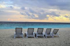 Beach chairs (Neal J.Wilson) Tags: beach sunbeds sea seascapes ocean indianocean maldives themaldives holidays vacation empty dusk sunsets tropicalbeach nikon d3200