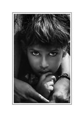 Srinagarindra (Black Orchid Studio) Tags: portrait children enfant india north kashmir monochrome blackwhite world asian himalaya nomade people face nikon 1991 f801