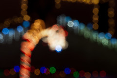 Just Light 17 (LongInt57) Tags: christmas lights decorations bokeh defocus night festive holiday white blue red yellow green black kelowna bc canada okanagan circles hexagons brown