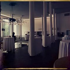 Alte Kongresshalle 1 (Casey Hugelfink) Tags: munich münchen 60s columns galerie chandelier tables sixties catering theresienhöhe säulen tablecloths altekongresshalle