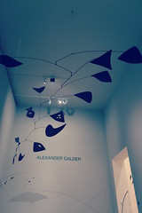 Icnes Amricaines - RMN - Grand Palais - SFMOMA Collection (mArc ferr) Tags: blue shadow paris mobile museum sfmoma exhibition muse collection exposition popart alexandercalder grandpalais rmn icnesamricaines