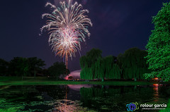 Huntley, IL Fireworks (topmedic) Tags: birthday park longexposure chicago colors america illinois nikon northwest fireworks celebration suburb recreation openspace explosions 4thofjuly july4 camille claudine nightexposure timing 2015 d7000 tokina1114 acefireworksshooter