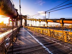 Leaving Brooklyn (Jim Nix / Nomadic Pursuits) Tags: nyc travel bridge sunset newyork brooklyn photography landmark olympus brooklynbridge goldenhour mirrorless nomadicpursuits jimnix olympusomdem1