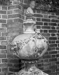 Williamsburg Ornament (Meleager) Tags: bw white black film virginia kodak trix omega colonial medium format 6x7 koni willaimsburg rapid100