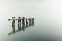 in a haze (s@ssyl@ssy) Tags: longexposure ontario reflection pier lakeontario remains grimsby ndfilter 50pointconservation