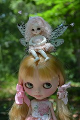 Thanks to a beautiful person I have my first custom Blythe (French Bulldog Works) Tags: pink girls portrait white cute girl hair wings funny doll little sweet fair fairy blond wig tiny mohair faery blonde belle bjd blythe custom takara beings abjd puki latidoll lati iloveblythe pukipuki realpuki fairbeings