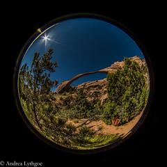Landscape Arch (shutterdoula) Tags: lensbaby nationalpark arches moab circularfisheye