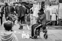 Performer (Noonski) Tags: bw en white black amsterdam photography mond nikon albert performer zwart wit harmonica cuyp lovelycity
