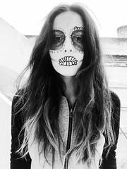 Make up (camilapuppi) Tags: blackandwhite girl photo makeup fave