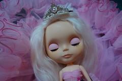 Sleeping Princess... (Primrose Princess) Tags: pink tiara french ballerina doll princess blythe chic pinkalpacareroot dollydreamland morganortoncustomblythe