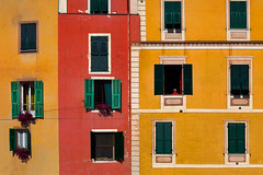 Windows. Dolceacqua, Italy (Marji Lang Photography) Tags: travel windows urban italy building tourism window colors composition facade one design italian european colours village geometry liguria documentary style facades flats repetition geometrical typical ochre picturesque italie dolcevita oneperson ocre imperia dolceacqua streetshot southerneurope colouful appartments smallvillage italianvillage northernitaly italianstyle ligurian medievalvillage urbancomposition buildingfacades manywindows dolceaqua beautifulvillage southeurope imperiaprovince visititaly lovelyvillage italytourism italyvillage documentlife humaningeometry