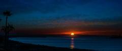 The West Coast, California---in explore (beachpeepsrus) Tags: shore sky sunrise palms clouds color california westcoast water
