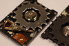 22880 18-teeth singlespeed cog with 2.5-inch hard disk drive (geekstinkbreath) Tags: 18teeth singlespeed cog harddiskdrive harddrive harddisk hdd hd minolta50mm