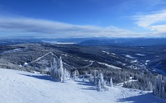 Sun Peaks from the Crystal Chair, looking east (Ruth and Dave) Tags: sunpeaks crystalzone todmountain skiresort skirun trees crystalchair weather weatherphotography