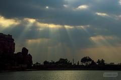 Agasythya Lake (Vinda Kare) Tags: india ancient karnataka badami rays sunset vatapi bagalkot lake water
