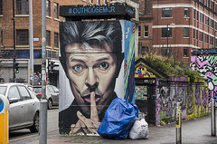Shhh (Mike Serigrapher) Tags: stevenson square manchester bowie
