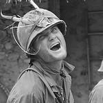 Chu Lai 1967 - Soldier Wearing a Horned Helmet thumbnail