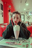 At Diner (Simo_za) Tags: milkshake diner american red girl portrait people olympusomd ritratto 50s vintage