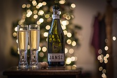 Happy New Year dear followers! (Joep Buijs Photography) Tags: sparkling wine christmas bokeh nikon 50mm f14 dof white champagne new year 2017 jansz table tree glass full bubbles