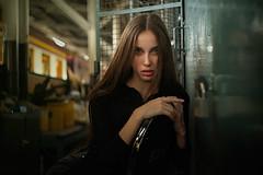 simple portrait of Daria (Khun_K) Tags: beauty beautiful beautifulgirl beautifulwoman portrait people portraiture pretty leica leicasl kinoptik trainstation