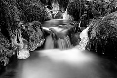 Hivernal (jpto_55) Tags: noiretblanc ruisseau cascade poselongue glace hiver xe1 fuji fujifilm fujixf1855mmf284r ariège france pyrénées