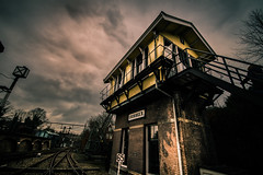 Groningen (bjdewagenaar) Tags: utrecht holland dutch urban urbex industrial railway railroad building architecture decay wide angle sigma 1020mm low perspective sony a58 alpha clouds raw lightroom photoshop