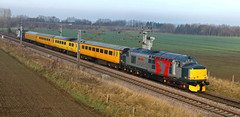 Network Rail Test Train 1 (dgh2222) Tags: class 376 37604 37608 1q05 test train ecml hambleton near selby