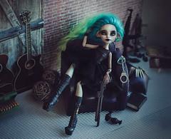 Villain (Klio.13) Tags: monsterhigh monster high mattel ooak custom customdolls dolls dollphotography toyphotography toys repaint reroot rochellegoyle cyan villain