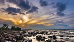 Fleeting Light (Monojit Dey) Tags: sea india sunrise skyscape landscape dawn rocks maharashtra mumbai sewri nikond600 nikon1424mmf28 monojitdey